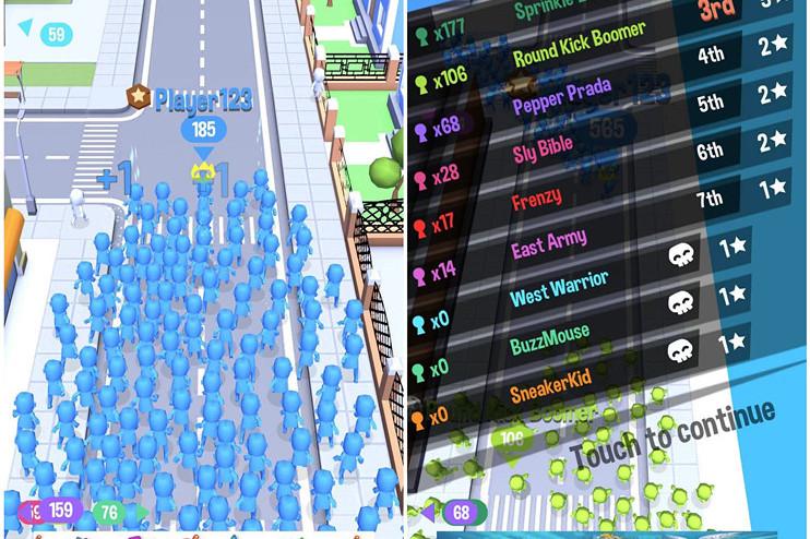 io游戏《拥挤城市》升至ios榜首 抖音推动下又一爆款小游戏