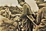 日军侵华老照片:强迫当地儿童学日语,假惺惺给孩子发糖果