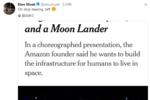 继马斯克之后 贝索斯也要宣布登月计划了