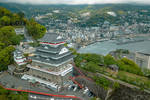 航拍日本千年古城热海,曾经以花街而繁盛的温泉地
