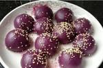 紫薯芝麻丸,个个空心有诀窍,外酥里嫩,吃不停