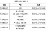 四川大学水利水电学院2019年优秀大学生暑期夏令营招生简章