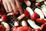 农村深山里这种菇��是农村餐桌上的美食��城里人却吃不到