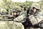 上色二战老照片��德国狙击手很多��小鲜肉级别的却少见