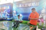 """西海岸新區金沙灘啤酒城內的""""機器人王國""""為游客增添新鮮體驗"""
