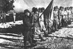 老照片,二戰時期塞班島被美軍俘虜的日本士兵