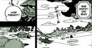 《海贼王》962话,光月御田收服赤霄九人众,年轻时候的大妈露脸