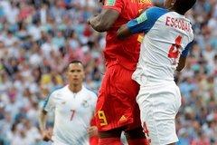 高清:比利时战巴拿马 卢卡库与埃斯科瓦尔争球