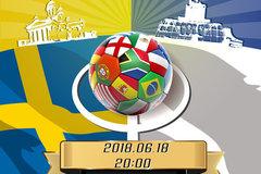高清图:瑞典vs韩国率先开战 创意海报看世界杯