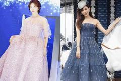 林志玲解锁新年最美造型,一袭黑色开叉裙秀身材,优雅又有女人味