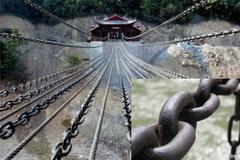 泸定桥13条铁链40吨,1万多个铁环,3百年前如何架起来的?