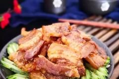 家常下饭菜,椒盐五花肉,做法简单,肥而不腻