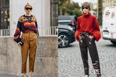 上暖下酷的毛衣+皮裤造型,让你轻松解锁娘man平衡的新玩法