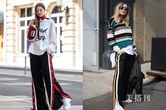 条纹裤的魅力在冬季完美释放,这些示范教你如何选搭