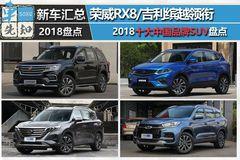 荣威RX8/吉利缤越领衔 2018年十大自主SUV盘点