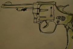 绘画:手枪