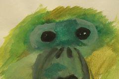 绘画:出神的猴子