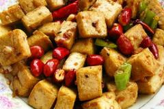 宫保鸡丁吃腻了,尝一尝宫保豆腐吧