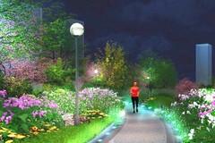 5公里!就在银泰旁!杭州首条环形夜光跑步道来了~