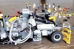厉害了!牛人用乐高制作实用的扫地机器人