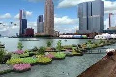 荷兰人变废为宝,用垃圾造了座漂浮公园,环保休闲两不误!