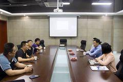 卓克 | 騰訊云華東區總經理朱張輝一行蒞臨卓克藝術網