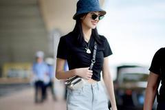 T恤配短裤时髦不费力,连杨超越林允都爱到不行,想不显瘦都很难