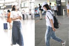谢娜也太节俭了吧!机场连续穿白T戴同款白帽,连口罩都不换?