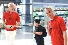 """""""奶奶""""变帅哥!张庭老公53岁林瑞阳成功瘦身,红衣配白裤鲜艳夺目"""
