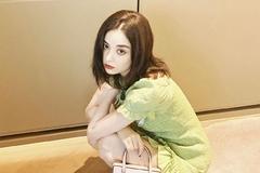 娜扎终于对绿色下手!穿牛油果色连衣裙,真是肤白貌美的妙人儿