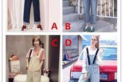 心理测试丨选择一款你喜欢的背带裤,测你内心性别是男还是女
