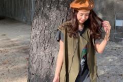 """张子萱又美回来了,波点透视裙好可爱,被陈赫宠成""""小公主"""""""