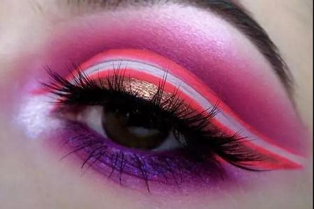 创意眼妆作品图片分享|化妆学校创意眼妆图片合集|创意眼妆图片大全图片