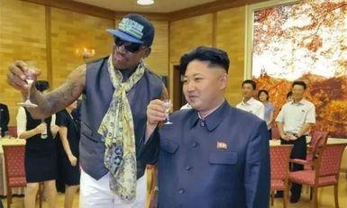 罗德曼与朝鲜的关系_他是金正恩唯一的座上宾 曾一起喝酒抽雪茄-搜狐大视野-搜狐新闻