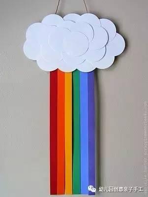 幼儿园手工:简单的彩虹手工和环创