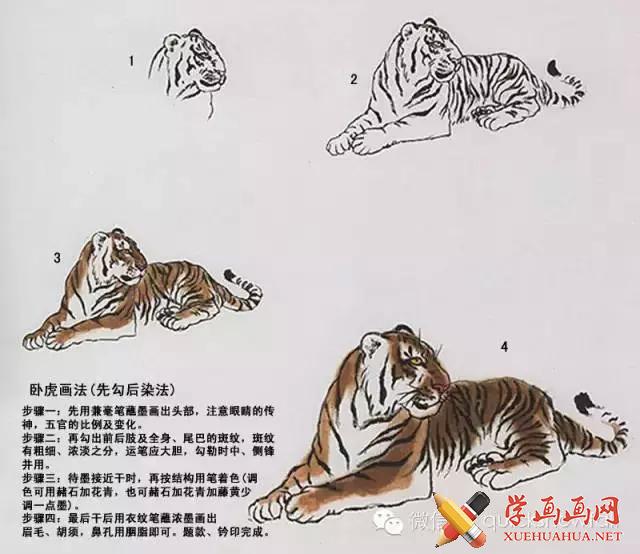 国画老虎的画法图文详解!中国名画家画虎作品欣赏!
