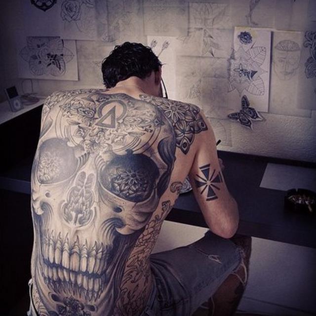 满背欧美骷髅纹身图案 纹身图案大全 纹身 纹身图案 纹身的讲究 刺图纹身网图片