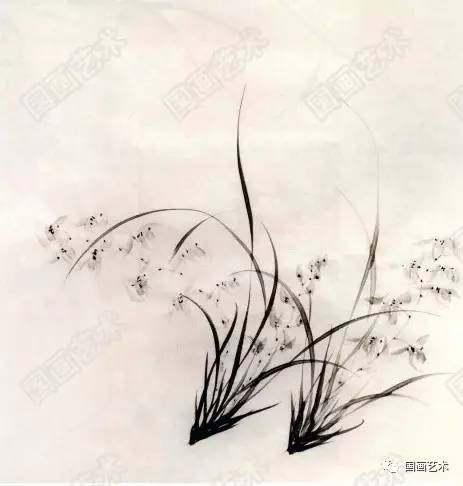 国画水墨画兰花步骤画法图文教程详解图片