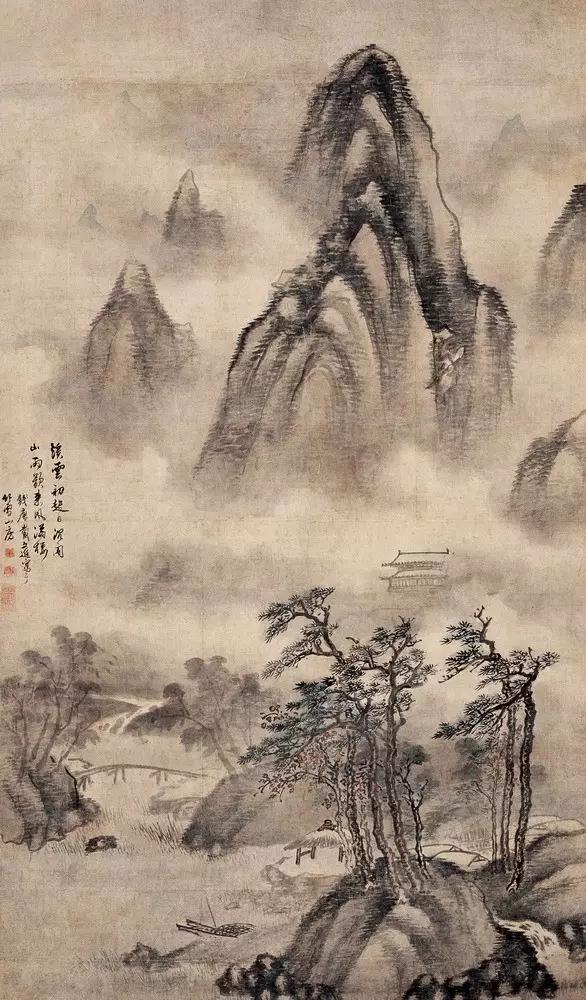 中国画斧劈皴图片步骤图