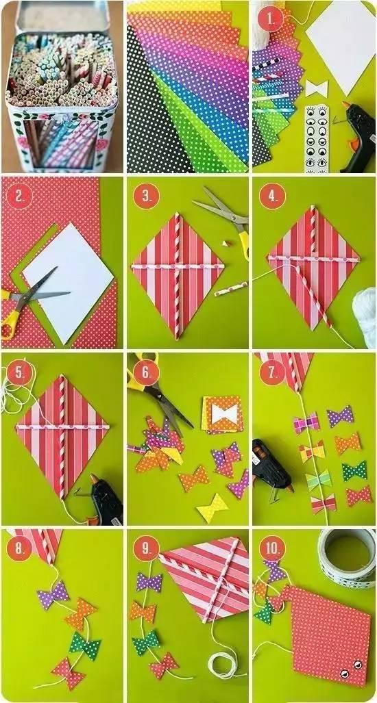 手把手教你制作风筝 夏日幼儿园必备手工课