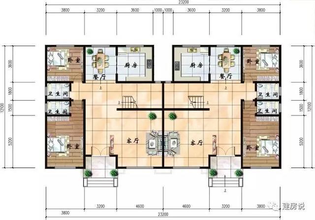10款兄弟双拼农村别墅户型图,这样建房才家庭和睦