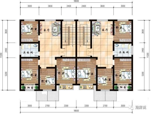 10款兄弟双拼农村别墅户型图,这样建房才家庭和睦图片