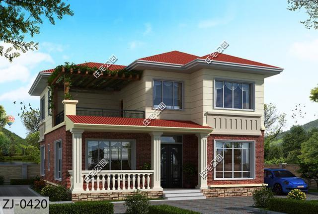 10.7X12米农村别墅,户型方正实用 美观经济