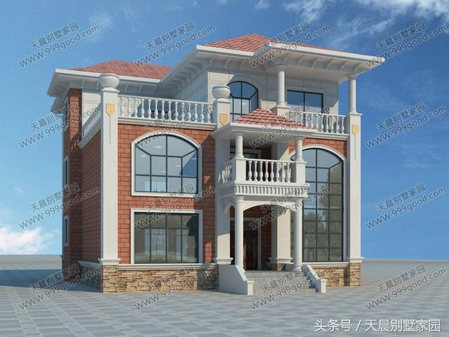 农村12.5X11米三层别墅设计图,第2种很多人喜欢