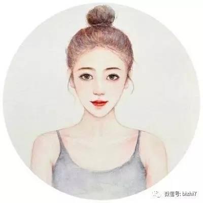 时尚 正文  2017女生同人手绘插画头像 ps:原版高清无水印版请 微信公