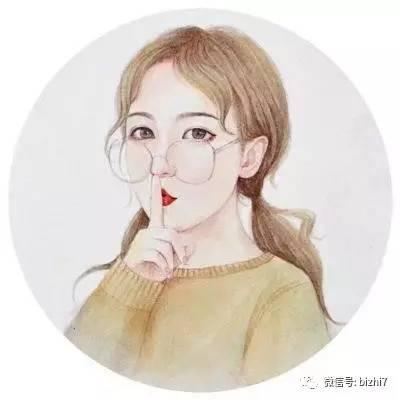 时尚 正文  2017女生同人手绘插画头像 ps:原版高清无水印版请 微信