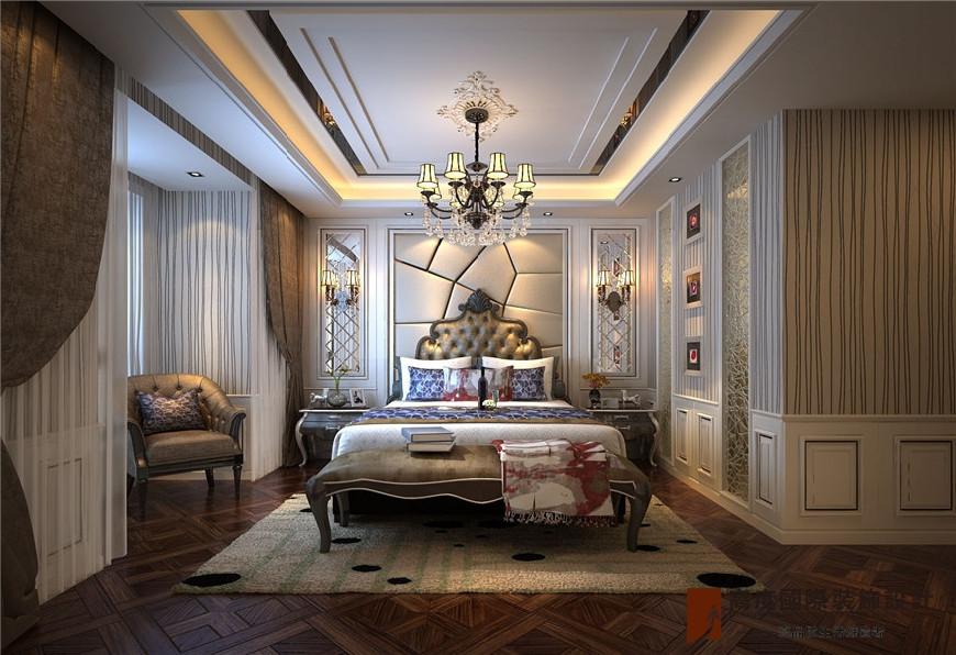 西安装修 西安高度国际 欧式风格效果图 餐厅空间延续首先在地面铺砖