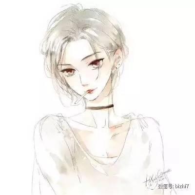 2017女生同人手绘插画头像