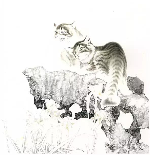 工笔画自学入门 工笔猫画法步骤图文教程图片