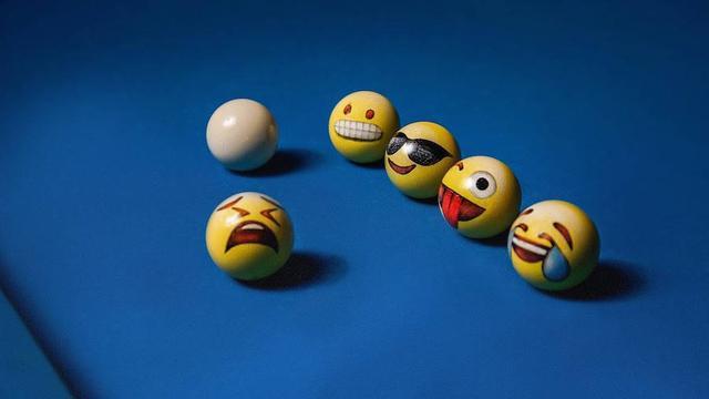 当emoji表情遇上台球,再也不能认真打台球了图片